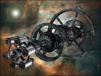 Nave espacial avanzada con gravedad artificial