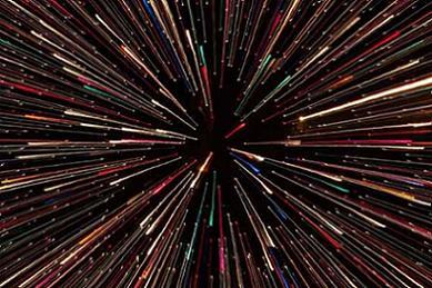 Vista del espacio en las películas del ciencia ficción